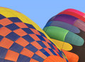 Free Two Hot Air Balloons Inflating. Royalty Free Stock Photography - 34928297