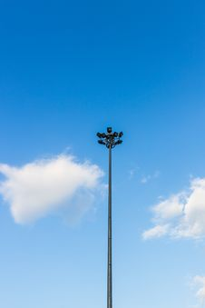 Free Street Light On The Blue Sky With Cloud Stock Image - 34923791