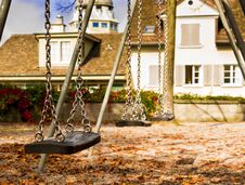 Free Lonely Swing In A Park Royalty Free Stock Photos - 34926968