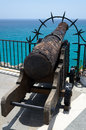 Free Rusty Gun At The Balcony Of Europe Royalty Free Stock Photos - 34930868