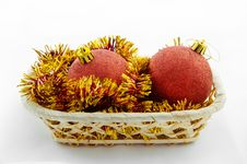 Free Christmas And New Year Red Ball Royalty Free Stock Images - 34930809