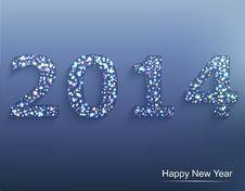 Happy New Year 2014. Сelebration Background. Stock Image