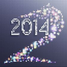 Free New Year Background 2014. Horse In The Form Of Mosaics Stock Image - 34931061