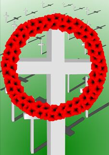 Free Remembrance Crosses Stock Images - 34938174