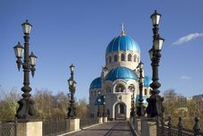 Russia. Moscow. Church Of The Holy Trinity. Stock Photography