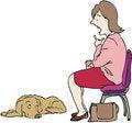 Free Talking To Dog Royalty Free Stock Photo - 34952785
