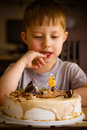 Free Boy In His Birthday Stock Photography - 34959522