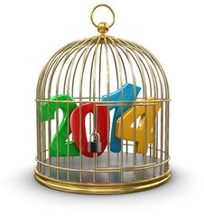 Gold Cage With 2014 &x28;clipping Path Included&x29; Stock Photos