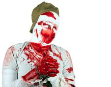 Eyeless Scary Bloody Zombie Stock Image