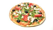 Vegetarian Pizza Rotate Royalty Free Stock Image