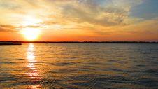 Free A Vivid Sunset On Lake Erie Stock Photos - 34957043