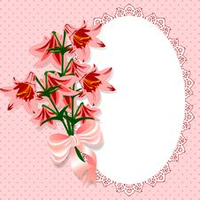 Pink With Flowers Stock Images