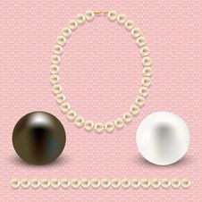 Free Pink With Pearls Royalty Free Stock Images - 34959409