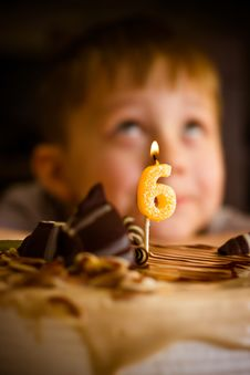 Boy In His Birthday Royalty Free Stock Photo