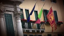 Free Flags In Venice Royalty Free Stock Images - 34959929