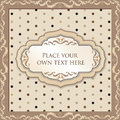 Free Vintage Floral Background With Label And Copy Space Stock Photo - 34962710