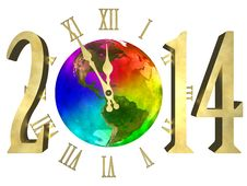 Free Happy New Year 2014 - America Royalty Free Stock Photography - 34962257