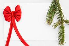 Free Christmas Greeting Card Royalty Free Stock Photos - 34963148