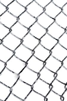 Free Hoarfrost On Chain Link Fence Royalty Free Stock Photography - 34963417