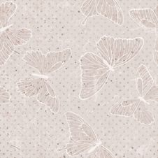 Free Butterfly Seamless Pattern Stock Photo - 34963820