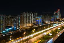Rublevskoe At Night, Moscow Royalty Free Stock Photography