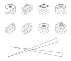 Free Sushi Set. Stock Image - 34965831