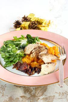 Free Chicken Dinner Royalty Free Stock Photos - 34966708