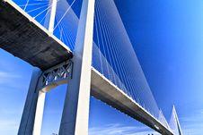 Free Big Suspension Bridge Royalty Free Stock Image - 34969156