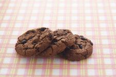 Free Chocolate Cookies Royalty Free Stock Images - 34971889