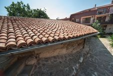 Free The Traditional Bulgarian Stone Roof Stock Image - 34974221