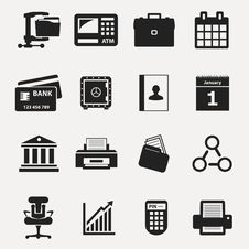 Free Business Icons Royalty Free Stock Photo - 34977525