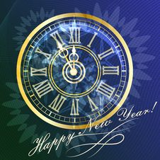 Free New Year Clock Royalty Free Stock Photography - 34978317