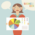 Free Business Woman With Business Idea Stock Photography - 34980652