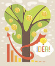 Free Money Tree. Business Idea Stock Photography - 34981122