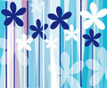 Free Blue And White Background With Flowers And Circles Royalty Free Stock Images - 34982279