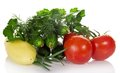 Free Tomatoes, Cucumbers, Pepper, Parsley, Dill And The Royalty Free Stock Images - 34983639