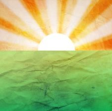 Free Abstract Background With The Sun And The Earth Royalty Free Stock Image - 34985326