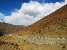 Free Tibet Plateau Road Royalty Free Stock Photos - 34989188