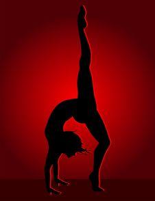 Flexible Dancing Girl Royalty Free Stock Image
