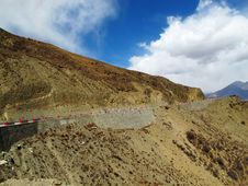 Free Tibet Plateau Road Royalty Free Stock Photo - 34989375