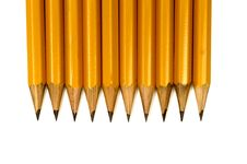 Free Close Up Shot Of Sharpened Pencils Royalty Free Stock Images - 34989549