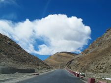 Free Tibet Plateau Road Stock Image - 34989981