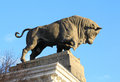Free Bull Sculpture On The Building Of The Meat Industry Stock Images - 34991084