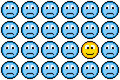Free 8-bit Pixel Art Sad Faces And One Happy Face Stock Images - 34995294