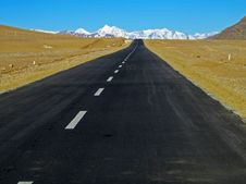 Free Tibet Plateau Road Royalty Free Stock Photo - 34991445