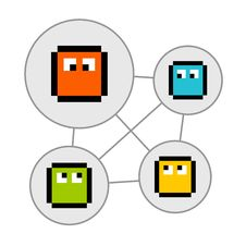Free Pixel Characters In Social Networking Bubbles Royalty Free Stock Image - 34995216
