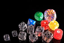 Coloured Dices Royalty Free Stock Photo