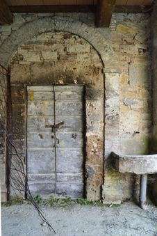 Abandoned Stone Doorway Stock Photos