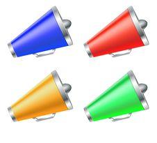 Free Megaphone Icons Set Stock Images - 34996744