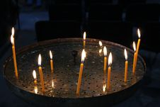 Free Church Candles Royalty Free Stock Images - 34996799